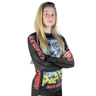 Tatami x Iron Maiden Kid's Number of the Beast Long Sleeve BJJ Rashguard - Black