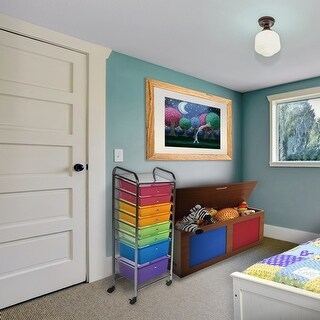 Hermosa Home 8 Drawer Steel Decorative Rolling Storage Cart - Satin Nickel