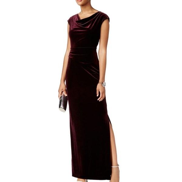 Vince Camuto Purple Womens Size 10 Velvet Twist Back Sheath Dress