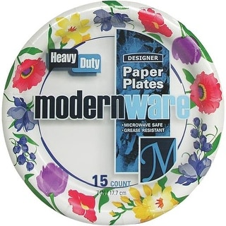 "A J M Packaging Corp. 15Ct 7"" Paper Plate DP7MW032015AGI Unit: EACH"
