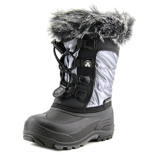 Kamik Solstice Toddler Round Toe Synthetic Silver Winter Boot