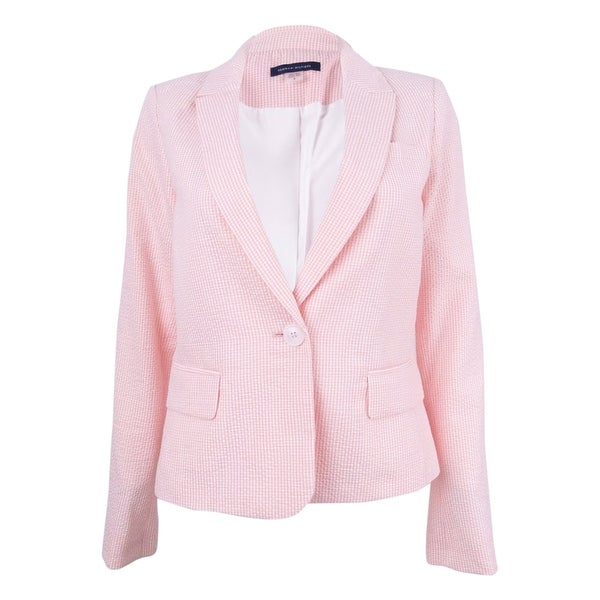 32504ec1793714 Shop Tommy Hilfiger Women's Seersucker Blazer - On Sale - Free Shipping  Today - Overstock - 21945402