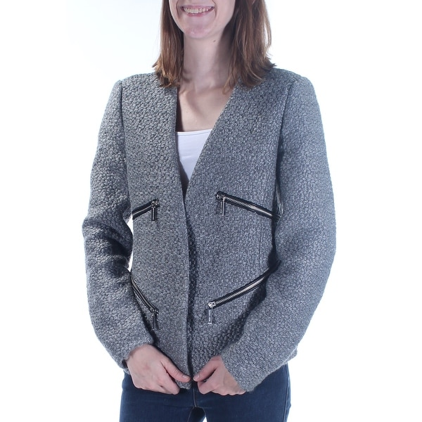 f535cd94ccda Shop MICHAEL KORS Womens Gray Pocketed Zippered Blazer Wear To Work Jacket  Size: 2 - On Sale - Free Shipping On Orders Over $45 - Overstock - 23467244