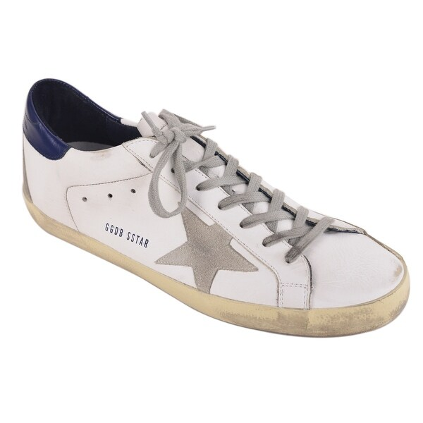 64ddf4d1d Shop Golden Goose White Double Pattern Leather Superstar Sneakers ...