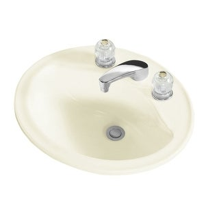"""Sterling 442008 Sanibel 20-1/4"""" Drop In Bathroom Sink With Three Holes Drilled And Overflow"""