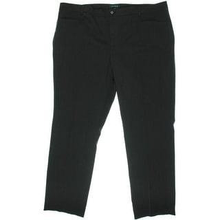 Lauren Ralph Lauren Womens Plus Adele Slimming Fit Straight Leg Dress Pants - 16W