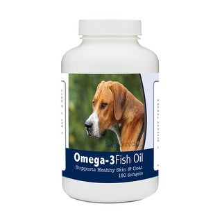 Healthy Breeds English Foxhound Omega-3 Fish Oil Softgels