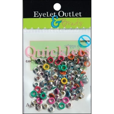 Eyelet Outlet Quicklets Round 84/Pkg-Summer 2