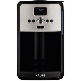 Krups EC314050 Savoy 12-Cup Coffee Maker, Stainless Steel