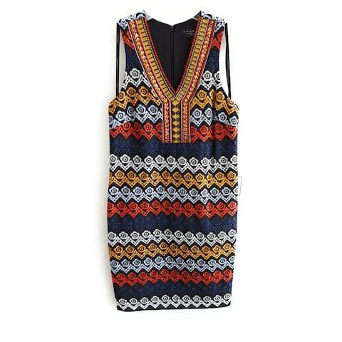 Laundry by Shelli Segal Women's Dress, Black Multi, 10
