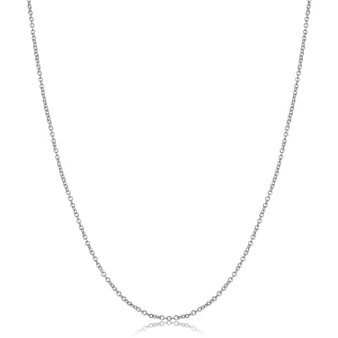 14k White Gold Filled 1.5 millimeter Cable Chain Pendant Necklace (14 - 30 inches)