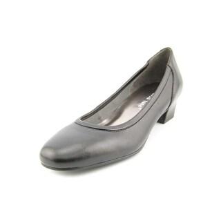 David Tate Supreme Women W Round Toe Leather Heels