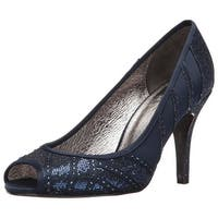 Adrianna Papell Womens Flair Leather Peep Toe Classic Pumps