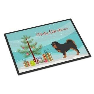 Carolines Treasures BB8488MAT Tibetan Mastiff Christmas Indoor or Outdoor Mat - 18 x 27 in.
