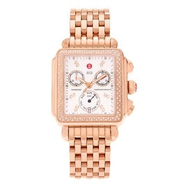 Michele Women's MWW06P000109 'Deco Day' Rose Gold 5/8 CT TDW Diamond Bracelet Watch