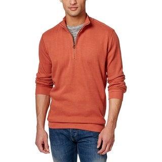 Weatherproof Mens Pullover Sweater Heathered 1/4 Zip