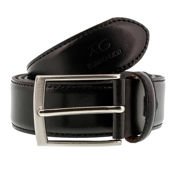 Romeo Gigli C856/35S NERO Black Leather Adjustable Mens Belt