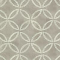 Brewster HZN43126 Cloverleaf Charcoal Geometric Wallpaper - N/A