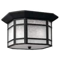 Hinkley Lighting 1273-GU24 2 Light Title 24 Fluorescent Outdoor Flush Mount Ceiling Fixture from the Cherry Creek Collection