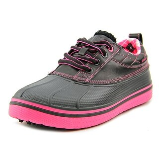 Crocs Allcast Duck Golf Round Toe Leather Sneakers