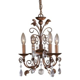 Minka Lavery ML 3127 4 Light 1 Tier Mini Crystal Chandelier from the Mini Chandeliers Collection