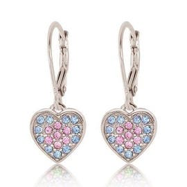 Kids Earrings - 925 Sterling Silver With a White Gold Tone Pink and Blue Colored|https://ak1.ostkcdn.com/images/products/is/images/direct/b524bf5eea7ff3a1cdeea5d05d104635f526b1e3/Kids-Earrings---925-Sterling-Silver-With-a-White-Gold-Tone-Pink-and-Blue-Colored.jpg?impolicy=medium