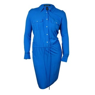 Lauren Ralph Lauren Women's Belted Long Sleeves Shirtdress - 20W