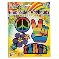 Hippie Embroider Applique Costume Set 4 Per Pack - Blue