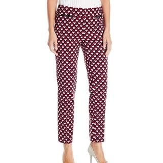 Nine West NEW Ruby Pink Women's Size 16 Geometric Print Dress Pants