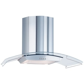 "Air King ARA36GL 35.5"" 570 CFM Aragon Glass and Wall Mounted Range Hood from the"