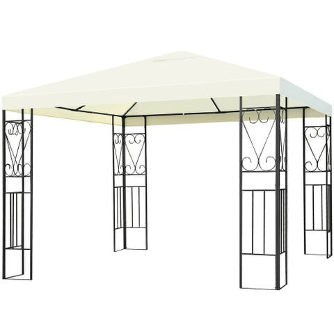 Costway 10'x10' Patio Gazebo Canopy Tent Steel Frame Shelter Patio