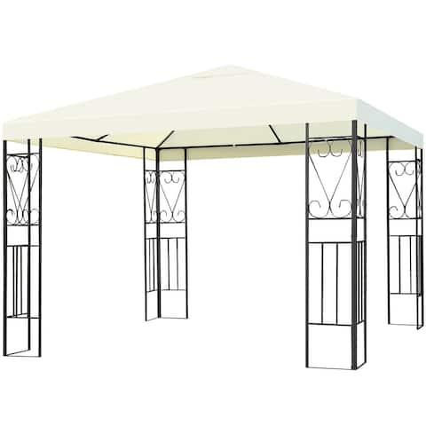 Costway 10'x10' Steel Frame Patio Gazebo Canopy Tent Shelter Patio