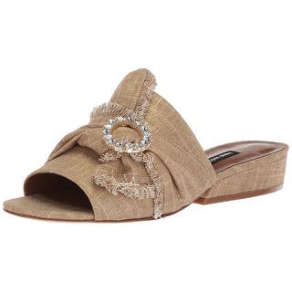 c3ae254edfcd5f Quick View. Was  43.99.  19.16 OFF.  24.83. Nine West Women s Lafay Linen  Slide Sandal