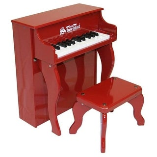 Toy Piano 25 key Carolina Red Elite Spinet with Bench