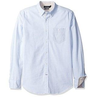 Nautica NEW Blue Mens Size Large L BStripe Oxford Button Down Shirt