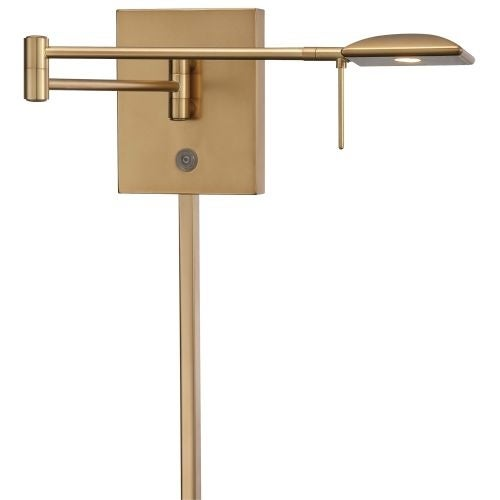 "Kovacs P4328-248 1 Light 6.25"" Height LED Plug In Wall Sconce in Honey Gold from the George's Reading Room Collection"