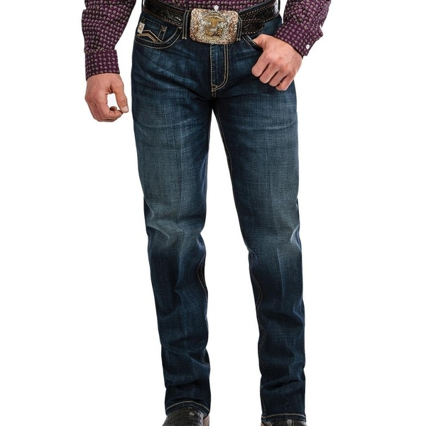 82672d5ef6b6 Shop Cinch Western Jeans Mens Grant Bootcut Relaxed Dark Indigo - 33 x 30 -  Free Shipping Today - Overstock - 27633344