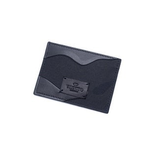 Valentino Unisex Black Camouflage Card Holder Wallet