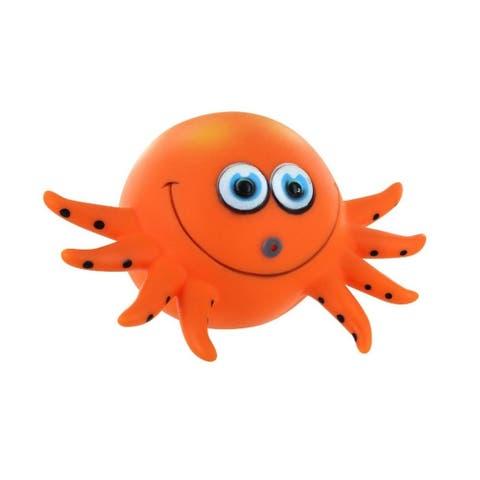 4.75 Orange Black Octopus Polka Dot Squirter Swimming Pool Water Toy