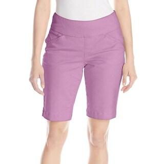 Jag Jeans NEW Purple Women's Size 2 Pull-On Twill Bermuda Shorts