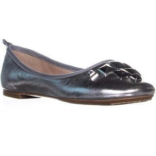 Marc Jacobs Cleo Studded Ballet Flats, Silver