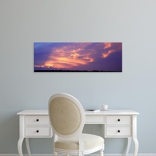 Easy Art Prints Panoramic Images's 'Clouds over a prairie, Marion County, Illinois, USA' Premium Canvas Art