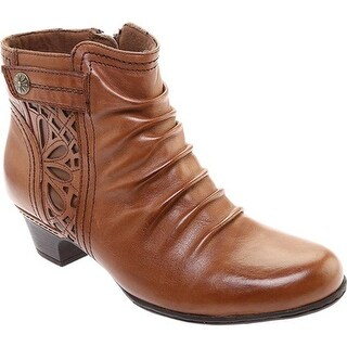 Rockport Women's Cobb Hill Abilene Ankle Boot Almond Leather