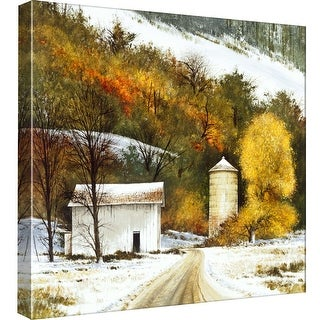 """PTM Images 9-97800  PTM Canvas Collection 12"""" x 12"""" - """"Rural Winter"""" Giclee Roads & Paths Art Print on Canvas"""
