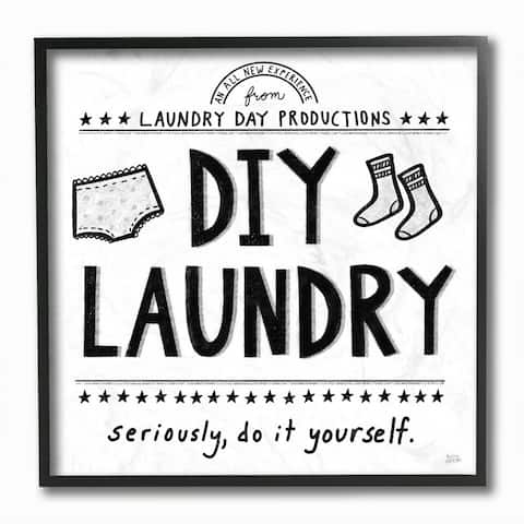 Stupell Industries Sassy DIY Laundry Sign Family Cleaning Home Chores Framed Wall Art