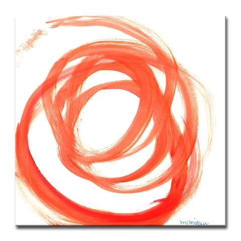 Porch & Den 'Orange Swirl II' Canvas by Dana McMillan