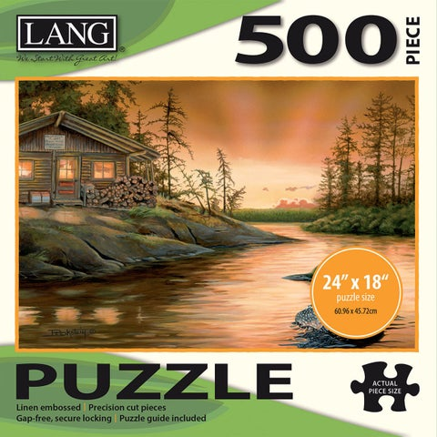 "Jigsaw Puzzle 500 Pieces 24""X18""-Cabin On The Narrows"