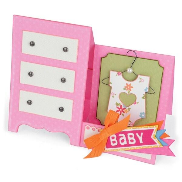 Sizzix Thinlits Dies 12/Pkg-Baby Dresser Card
