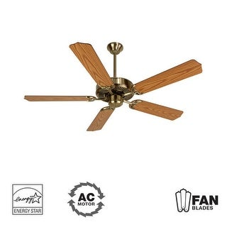 "Craftmade K10620 Contractor's Design 52"" 5 Blade Energy Star Indoor Ceiling Fan - Blades Included"