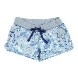 Guess Womens Juniors Fleece Floral Print Shorts - L